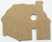 (4) Gingerbread House - Raw Bare Christmas Chipboard Die Cuts