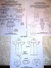 """Three Ng Creations Sewing Patterns fit 11"""" Newborn Cabbage Patch Kids Cpk Doll"""