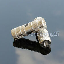 1pair BMX Bike Bicycle Cylinder Solid Aluminum Alloy Rear Axle Foot Pegs Silver