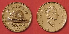 Brilliant Uncirculated 2001 Canada 5 Cents From Mint's Roll