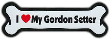 Dog Bone Magnet: I Love My Gordon Setter | Dogs Doggy Puppy | Car Automobile