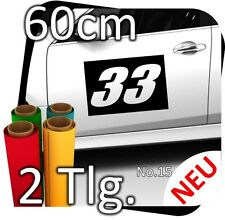 2x 60cm numéro libre au choix Numéro de départ rallye des autocollants start numéros No. 18