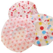 4pcs Disposable Bath Hat Shower Cap Elastic Band Waterproof Bath Cap Randomly