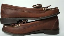 "Lucky Brand Shoes Leather Moccasins Driving Loafers Women Size 6 1/2"" M"