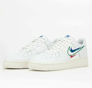 Nike Air Force 1 Low Multi Swoosh White DM9096-101 AF1 Shoes Sneakers