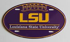 LSU Tigers Louisiana State University College Football Oval License Plate Sign
