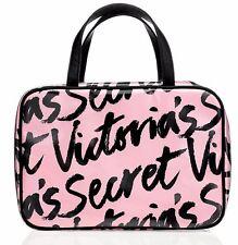 VICTORIA'S SECRET Signature Pink Travel Cosmetic Organizer Makeup Bag Case, NWT!