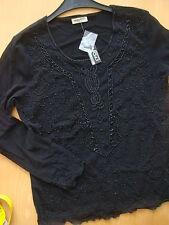 Abend-Bluse voller Perlen-Stickerei ,XL/XXL Italien ,gefüttert(Maße beachten)neu