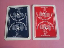 2 losse speelkaarten / 2 single playing cards / 2 cartes  KOFFIE - THEE en TABAK