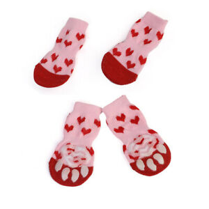 Indoor Warm Puppy Knit Dog Socks Protect Anti-Slip Small Dog Cat Chihuahua Boot