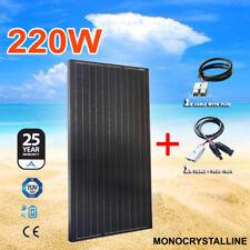 220W 12V Solar Panel Kit Generator Black Charging Caravan Camping Power PWM