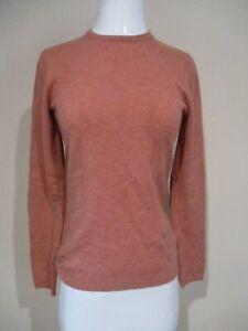 BRUNELLO CUCINELLI soft rust color Cashmere suede elbow patch sweater sz S