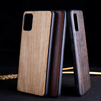 For Samsung Galaxy A21S A31 A41 A51 Wood Pattern Leather Hybrid Hard Cover Case