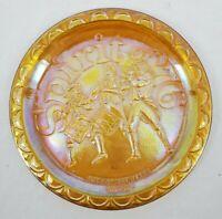 "VINTAGE Carnival Glass Plate ""Spirit of '76""  American Bicentennial 1776-1976"
