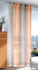 Ösenschal / Ösenvorhang mit Farbwechsel Orange-Weiß-Braun-Grau, BxH 135 x 245 cm