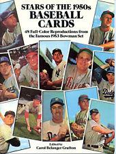 1985 Original Dover Stars of the 1950s Baseball Cards 48 Full Color Reprints
