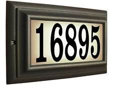 Edgewood, Ltl-1301-Orb, Large lighted address sign in Oil Rubbed Bronze