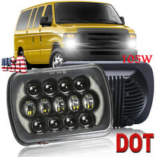"5x7"" 7x6 LED Headlight Hi/Lo DRL Beam for Ford E-100 E-150 E-250 E-350 Econoline"