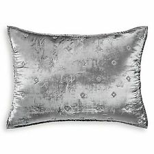 Hudson Park Collection Woven Diamond Quilted Pillow Sham - STANDARD - Silver