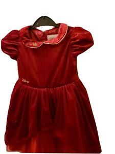 Girls Baby Luxury Disney Boutique Velvet Snow white occasion dress age 2_3 years