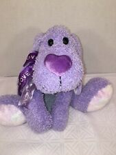 Vguc-15� Purple Puppy Dog Plush Spotted Ears feet love ribbon bow heart nose C