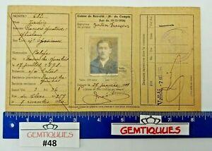 ANTIQUE VINTAGE Belgian Identity Card (Booklet)