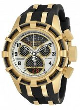 InvictA Reserve 17467 Yellow Gold BOLT Chronogpaph Swiss NEW BLACK and WHTE