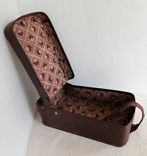 """Vintage luggage box for boots or shoes? travel case hinged lid 1920s 1930s 12x6"""""""