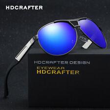 Mens Polarized Sunglasses Vintage Pilot Eyewear Drving Glasses Lens UK