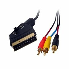 GP1584 Scart to 3 x RCA / Phono Audio / Video Gold Plated Cable Switchable 1.5 m