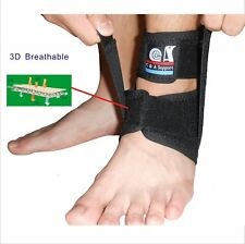 IRUFA 3D Breathable Adjustable Ankle Wrap Support Brace Stabilizer With Strap
