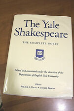 THE YALE SHAKESPEARE Complete Works, Cross & Brooke EDs. HC/DJ B&N/8th Printing