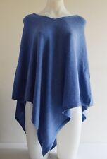 Sky Blue Pashmina Poncho Cashmere Wool Cape Wrap Soft Warm Women Long Sleeve 12