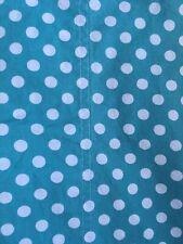 Garnet Hill Shower Curtain Blue French Dot Pattern