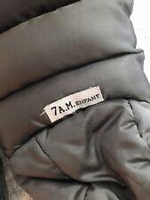 7 Am Enfant Warmmuffs Silver Metallic/ Charcoal stroller mitts Euc