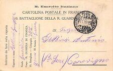 C7459) WW1 FRANCHIGIA PRIVATA, 10 BATTAGLIONE R. GUARDIA DI FINANZA, III ARMATA