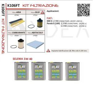 Inspection Set Fiat 500 II 1.3 Multijet 55kw From 2007+ 4L Selenia 5W40