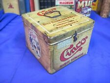 CINCO TOBACCO TIN CAN CIGAR old VINTAGE SMOKING american OTTO EISENLOHR & BRO