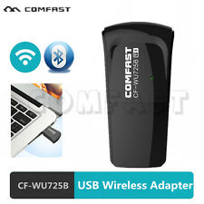USB 2.4G Wireless Network Card WiFi + Bluetooth Adapter 802.11B/G/N for PC US