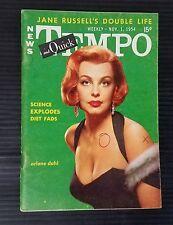 Tempo & Quick News Pocket Weekly November 1, 1954 - Arlene Dahl - Sophia Loren