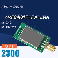 2.4G 22dBm 100mW nRF24L01P+PA+LNA Wireless Transmission Module Shield Board