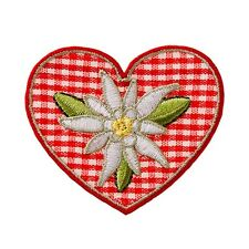 Karo corazón Edelweiss Edelweiss-Patch aufbügler Patch aplicación #9228 Tracht