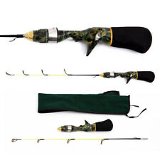 50/60cm Winter Ice Fishing Rod Camouflage Telescopic Portable Tackle Pole Set