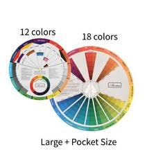 Artists Colour Wheel Mixed Color Guide Select Tool 23cm(18 color)+14cm(12 color)