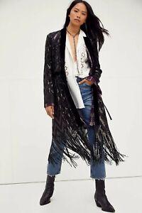 Free People Stardust Sequin Duster kimono jacket small 10/12
