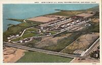 Postcard Aero View US Naval Training Station San Diego CA