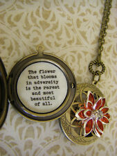 Lotus locket necklace the flower that blooms in adversity is the rarest