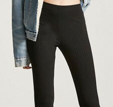75% OFF! AUTH FOREVER 21 RIBBED KNIT BLACK LEGGINGS SMALL BNEW CAN$14.90