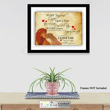 Lion king valentines Love Typography Romance Photo Poster Print ONLY Wall Art A4