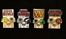 Oakland Raiders Set of 1st 4 NFL Super Bowl Starline Collector Pins Vintage Rare